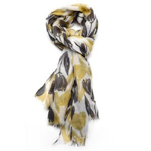 Tulip-Tulips-Floral-Flowers-Blue-Grey-Mustard-Yellow-Pink-White-Ladies-Scarves