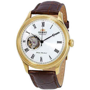 Orient-Open-Heart-Automatic-White-Dial-Men-039-s-Watch-FAG00002W0