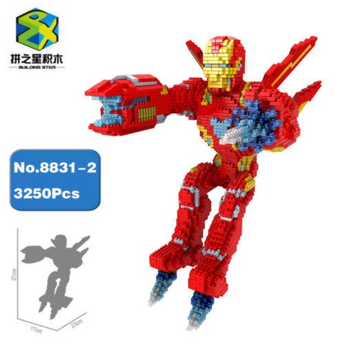 BS Marvel Avengers Fly Iron Man Super Hero Micro Mini Building Nano Blocks Toy