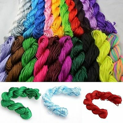 27M Nylon Cord Thread Chinese Knot Macrame Shamballa Bracelet String 1mm/2mm