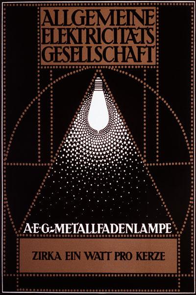 ELETRIC LIGHT ALLGEMEINE GERMANY GERMAN ART DECO FINE VINTAGE POSTER REPRO