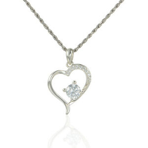 SILVER-HEART-PENDANT-NECKLACE-WITH-ZIRCONE-WEDDING-GIFT-GIFT-PACKED