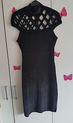 ladies black laser cut dress size 12 BNWT