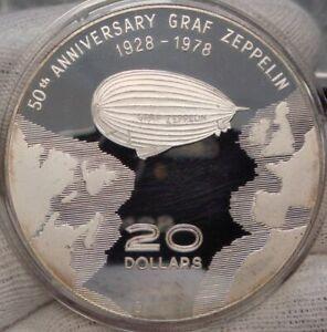Humorvoll Dominikanische Republik 20 Dollars 1978 Zeppelin Pp-