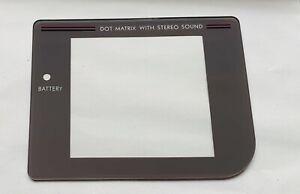 Nintendo-Game-Boy-DMG-01-Screen-Facia-Lens-Cover-Grey-Custom-Replacement-NEW