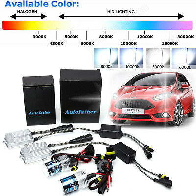 FORD FIESTA MK7 HID H7 4300k XENON LIGHTS CONVERSION KIT includes BULB HOLDERS