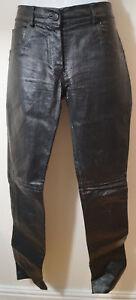 Pantalon Éclaboussures Imprimé De Uk12 Sz40 En Veau Peau Et Cuir Jitrois Pantalon Blanc Noir px6O5Zwq