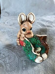 Hand-Painted-Woodlander-034-Pedro-034-Rabbit-made-in-Mereside-England