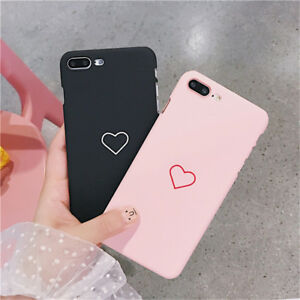best website 087b0 e1b7d Details about For iPhone XR XS Max 8 6s 7Plus Slim Matte Shockproof Heart  Hard Back Case Cover