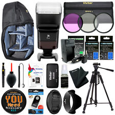 Canon EOS 80D 70D 60D 6D 7D 5D I II III Camera Everything You Need Accessory Kit