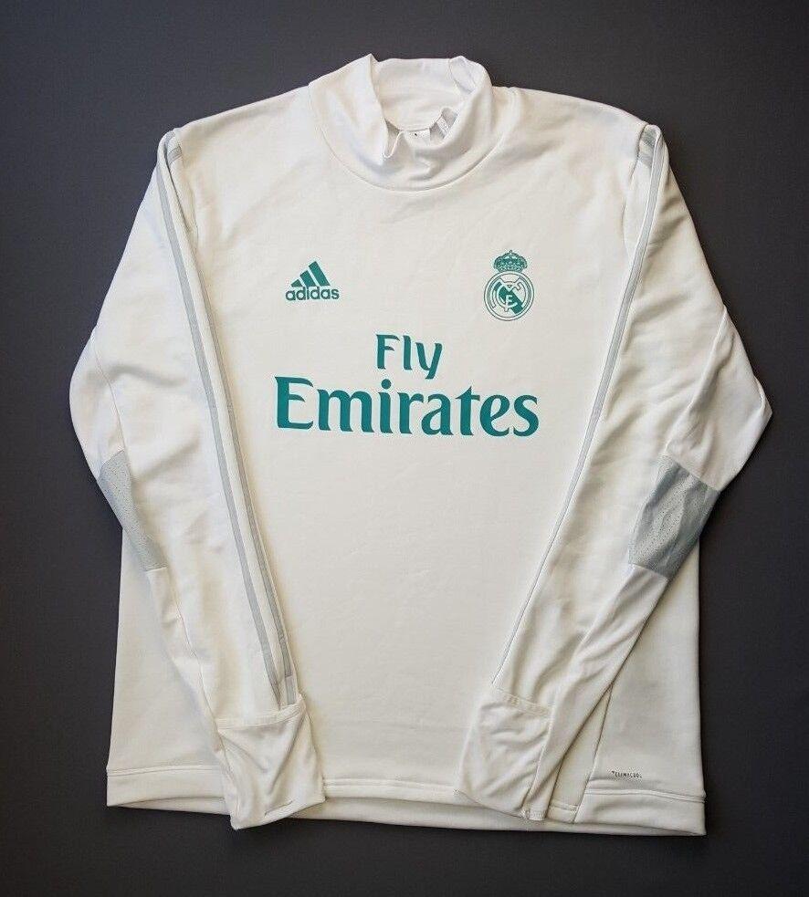 d3fd24c514f 5 Madrid Training Top White BQ7947 soccer football Adidas Real 5+ ...