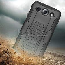 For LG Optimus G Pro F240 E980 Black Hybrid Rugged Armor Hard Case Cover Holster