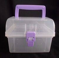 Storage Case Crafts Jewelry Make Up Organizer Small Clear 1 Removable Tray