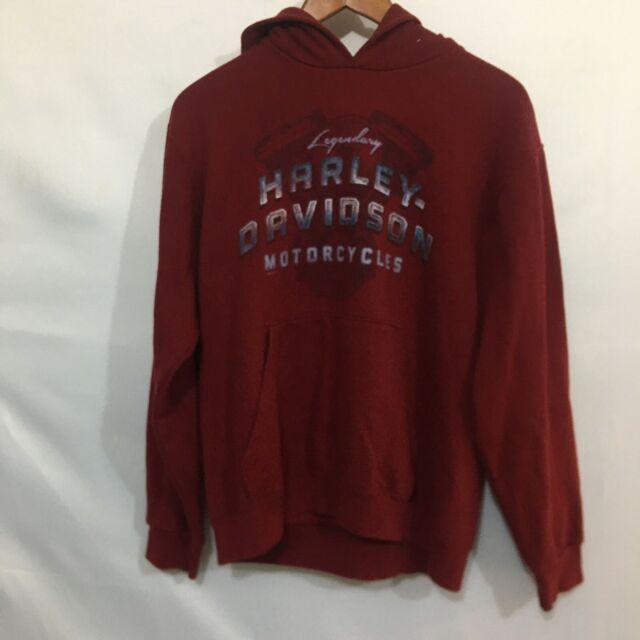 Harley Davidson Killer Creek Roswell Georgia Womens Burgundy Sweatshirt Size M