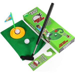 Bathroom Golf Set Putting Green Tee Flag Humorous Gag Gift ...