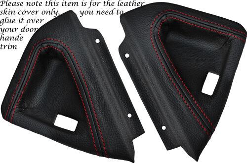 Red stitch fits Vauxhall vx220 VX 220 00-06 2x poignée de porte garniture en cuir de couverture