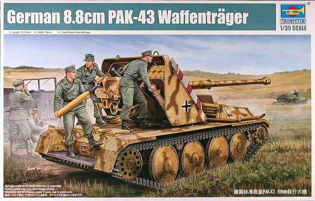 Trumpeter 05550 1 35 German 8.8cm Pak 43 Waffentrager