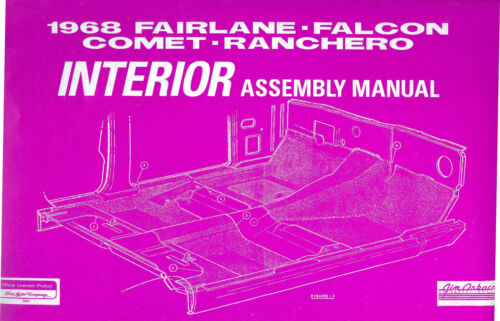 1968  68     FORD   FAIRLANE  INTERIOR ASSEMBLY MANUAL