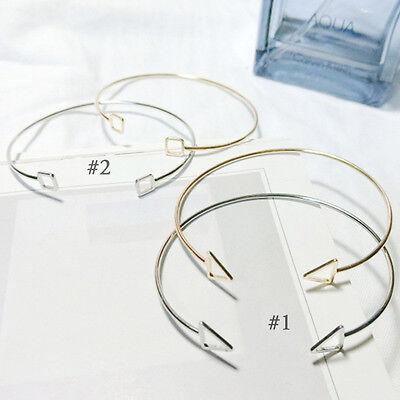 1Pc Triangle Geometric Minimalist Style Hollow Bracelet Modeling Bangles Jewelry