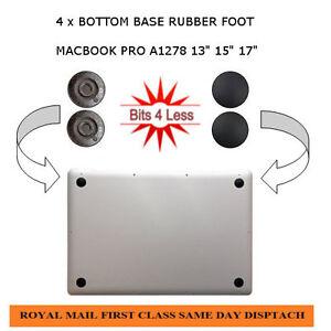 New-Original-Apple-Macbook-Pro-A1278-13-034-bottom-base-4-X-Rubber-Feet-foot-pad