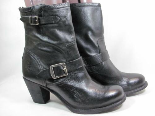 Frye Karla Engineer Boot Women size 11 Black Leath