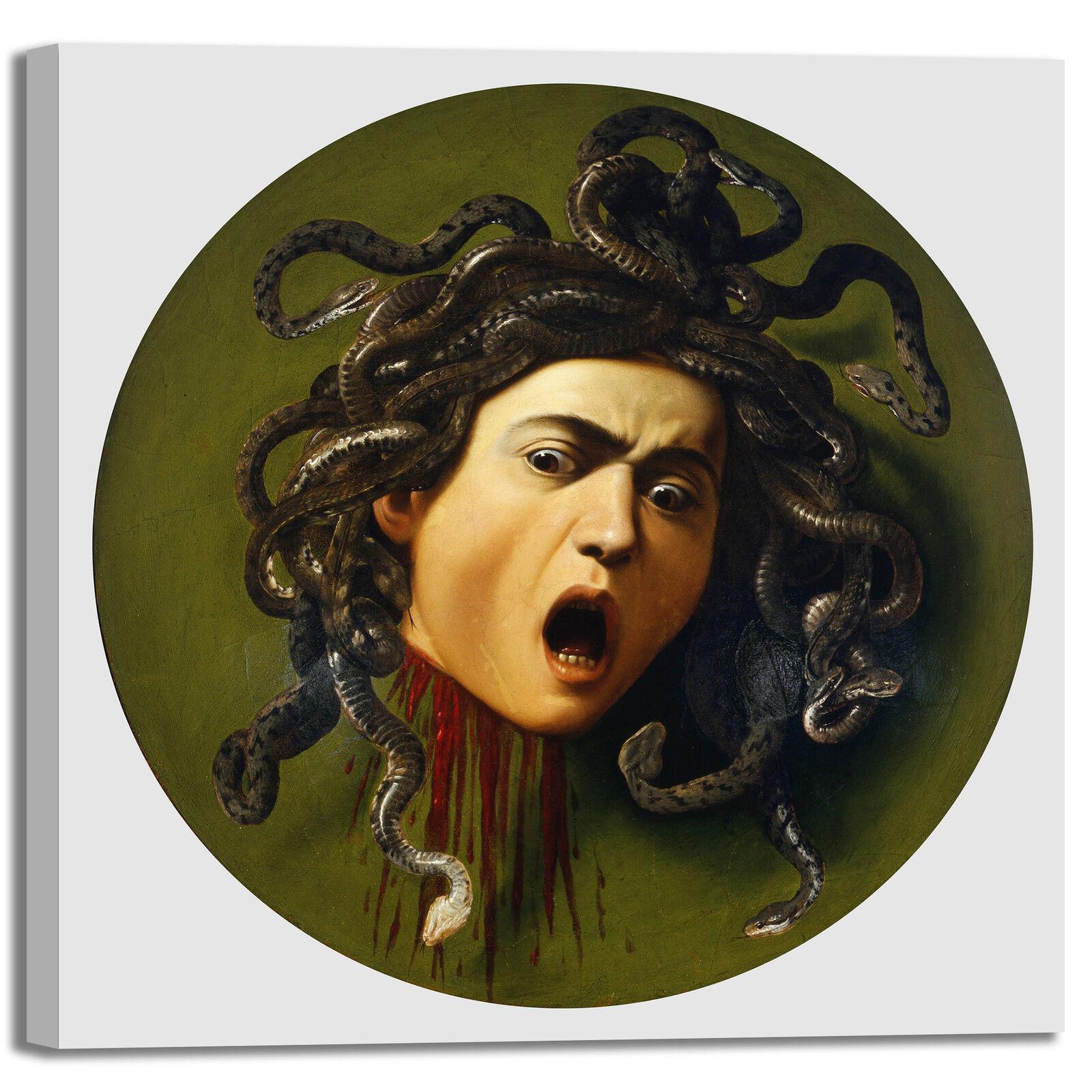 Caravaggio medusa design quadro stampa tela dipinto telaio arroto casa