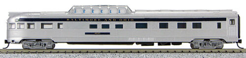 N Budd Passenger Dome Observation Car Baltimore /& Ohio Silver 1-041381
