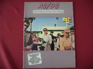 ACDC - Dirty Deeds Done Dirt Cheap. Songbook Notenbuch Vocal Guitar - Erftstadt, Deutschland - ACDC - Dirty Deeds Done Dirt Cheap. Songbook Notenbuch Vocal Guitar - Erftstadt, Deutschland