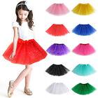 Girls Kids Tutu Party Ballet 3 Layers Dance Wear Dress Skirt Pettiskirt Costume