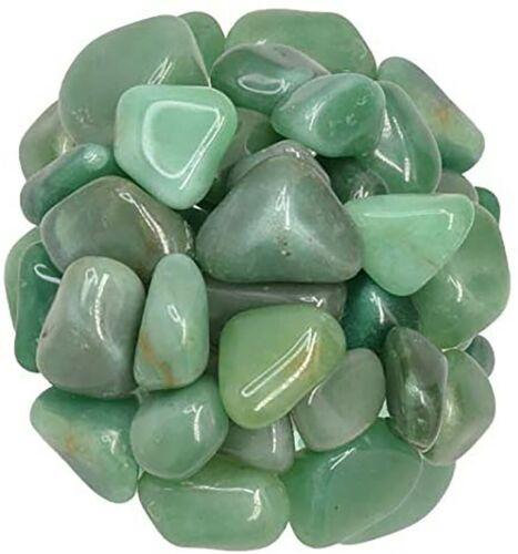 2 lb Green Aventurine Tumbled Stones Medium Craft Rocks Reiki Grade 1