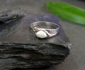 Eleganter-925-Sterling-Silber-Ring-LS-Linder-Schmuck-Perle-Vintage-70er-80er