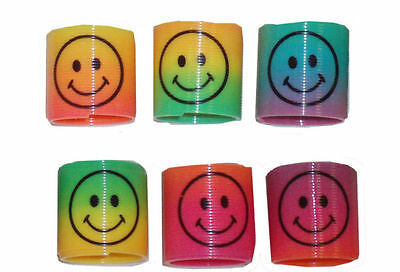 Mini Slinky Smiley Face Springs Rainbow Smiley Face Spring Party Bag Fillers