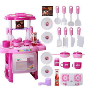 Image Is Loading Pink Kitchen Toys Cooking Child Play