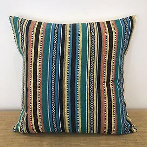18-034-45cm-Mexican-Fabric-MULTI-COLOURED-Cushion-Pillow-Cover-Made-Australia