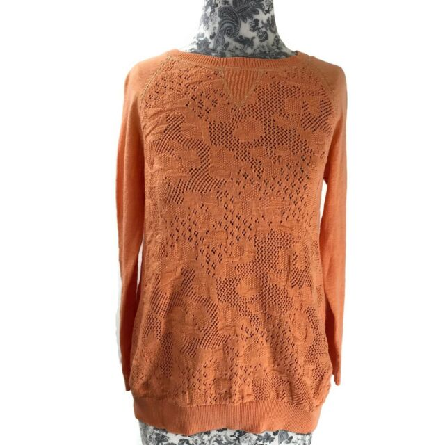 Style /& Co Womens Cardigan Open Knit Eyelet Brown 100/% Cotton Size 1X 2X NEW
