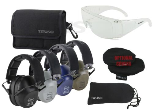 TITUS E-2 High NRR Ear Protection Safety Glasses Shooting Range Industrial PPE