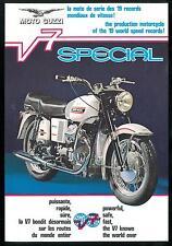 ORIGINAL Prospectus MOTO GUZZI V7 Special 1970 - 1971 Catalogue Français Anglais