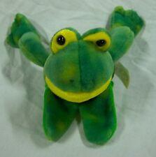 "Mary Meyer NICE SOFT GREEN FROG FINGER PUPPET 6"" Plush STUFFED ANIMAL Toy"