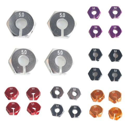 6 Colors 12mm DIY Upgrade Parts Hex Wheels Base Coupler 5.0 Thick For HSP