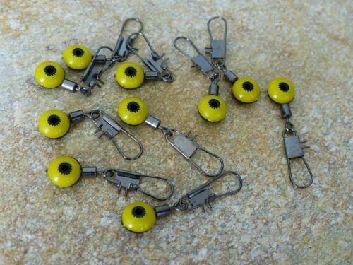 Posen vertébrale Adaptateur rapide Perle Laufwirbel jaune plusieurs quantités NEUF
