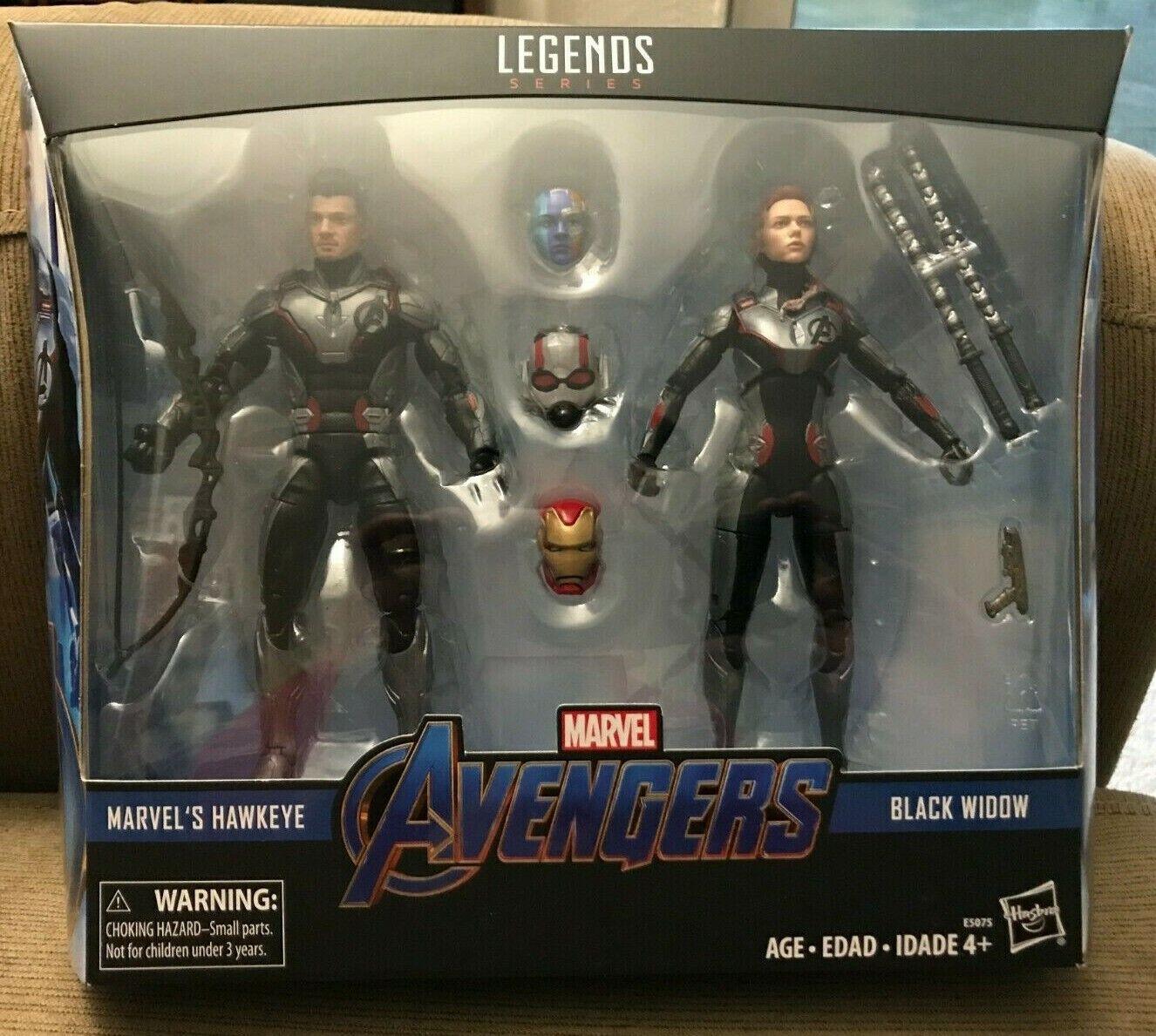 Marvel Leyendas Vengadores viuda negra de destino Tacho 2 Pack Hawkeye Hierro Ant Man