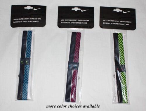 "2 Pack NIKE Unisex CHEVRON ¾/"" Hairbands Headbands Sz OS NWT several colors **"