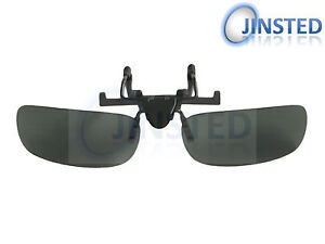 9efc0637b9d Green Polarised Polarized Flip Flip-Up Clip On Clip-On Sunglasses ...