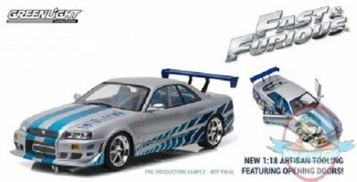 1 18 Artisan Collection 2 Fast 2 Furious 1999 Nissan Skyline GT-R R34