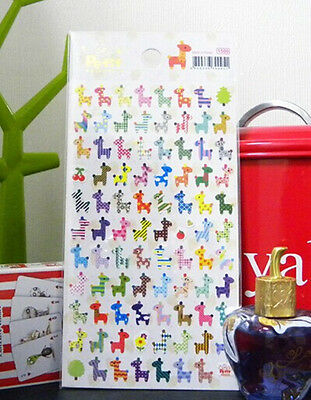 Colorful Deer Stickers Lovely  Craft Scrapbook Card DIY Gift for Kids #114