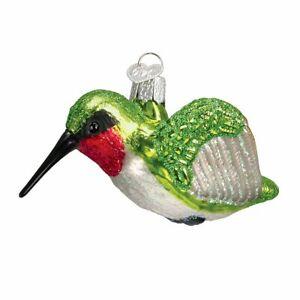 Old World Christmas HUMMINGBIRD (16055)N Glass Ornament w/OWC Box