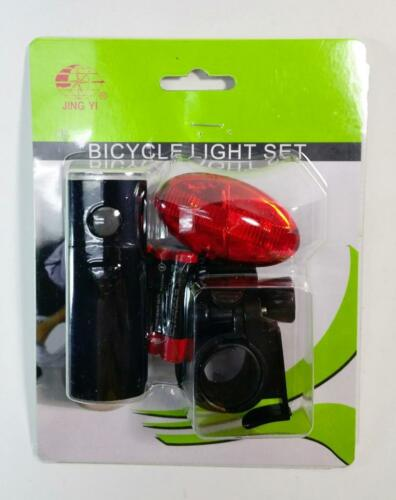 Bicycle Rear Red and Front WHITE Flasher High Visibility Led Light Clip On Set