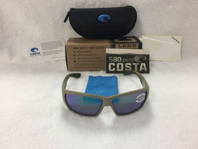01a4e47f36 NEW Costa Del Mar Tuna Alley Polarized Sunglasses Sand Green TA 248 580G  Glass