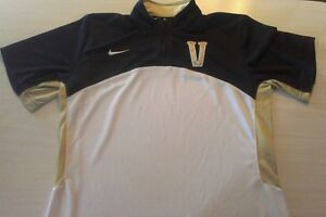 Womens Ncaa Vanderbilt Shirt Size M dri-fit Nike 1/4 zip