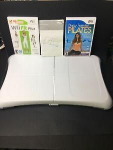 Wii Fit Balance Board -w/Wii Fit Plus & Daisy Fuentes-Pilates Exercise Fitness